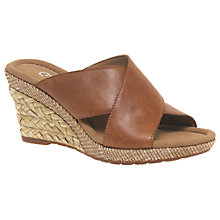 Buy Gabor Purpose Wide Slip On Wedge Heeled Sandals, Peanut Online at johnlewis.com