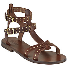 Buy Somerset by Alice Temperley Lufton Studded Gladiator Sandals, Brown Online at johnlewis.com