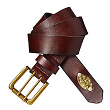 Buy Scotch & Soda Double Prong Leather Belt, Brown Online at johnlewis.com