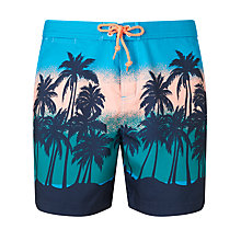 Buy Original Penguin Sunset Beach Swim Shorts, Blue Online at johnlewis.com