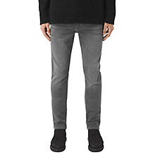 Buy AllSaints Barham Iggy Jeans, Dark Grey Online at johnlewis.com