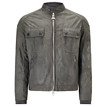 Buy Barbour International Oil Wax Jacket, Grey Online at johnlewis.com