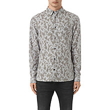 Buy AllSaints Montaud Abstract Print Slim Fit Shirt, Light Grey Marl Online at johnlewis.com