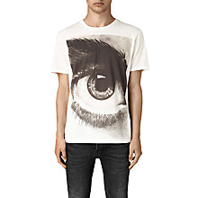 Buy AllSaints Realise Graphic Eye T-Shirt, Chalk White Online at johnlewis.com