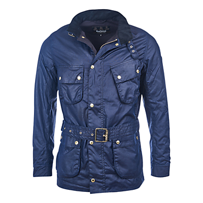 Barbour International Gauging Waxed Cotton Jacket Indigo
