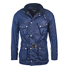 Buy Barbour International Gauging Waxed Cotton Jacket, Indigo Online at johnlewis.com