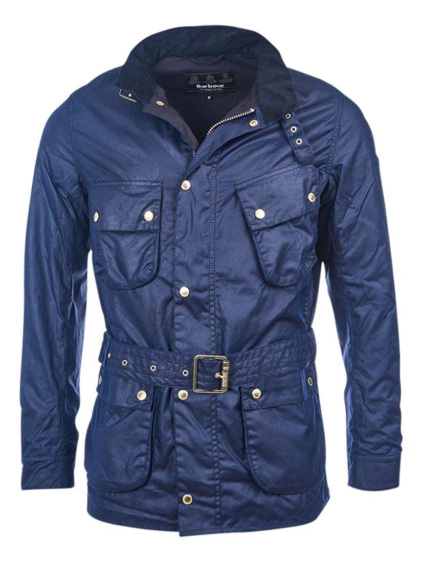 Barbour International Barbour International Gauging Waxed Cotton Jacket, Indigo