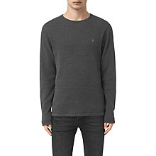 Buy AllSaints Naviad Long Sleeve Crew Neck T-Shirt, Charcoal Marl Online at johnlewis.com