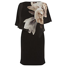 Buy Oasis Peony Overlay Dress, Black Online at johnlewis.com