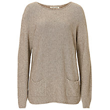 Buy Betty Barclay Long Jumper With Pockets, Light Brown Melange Online at johnlewis.com