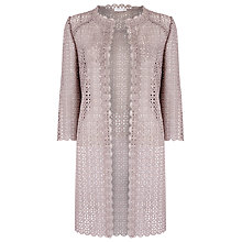 Buy Jacques Vert Longline Lace Shacket, Mid Brown Online at johnlewis.com