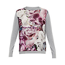 Buy Ted Baker Neaka Illuminated Bloom Jumper, Grey Online at johnlewis.com