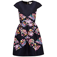 Buy Ted Baker Girley Lost Gardens Diamond Dress, Black Online at johnlewis.com