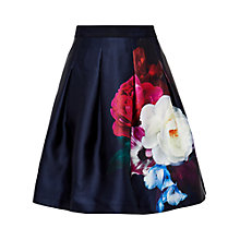 Buy Ted Baker Lipka Blushing Bouquet Full Skirt, Navy Online at johnlewis.com