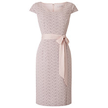 Buy Jacques Vert Lace Panel Shift Dress, Light Neutral Online at johnlewis.com