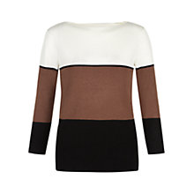 Buy Hobbs Lottie Jumper, Ivory/Black Online at johnlewis.com