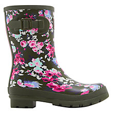 Buy Joules Molly Mid Wellington Boots, Khaki Online at johnlewis.com