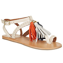 Buy AND/OR Lera Tassel Toe Post Sandals, Cream Online at johnlewis.com