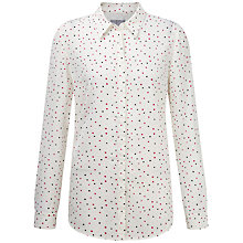 Buy Pure Collection Tabitha Washed Silk Blouse, Multi Spot Print Online at johnlewis.com