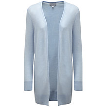 Buy Pure Collection Nylah Gassato Cashmere Rib Longline Cardigan, Heather Sky Online at johnlewis.com