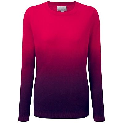 Pure Collection Aaliyah Cashmere Boyfriend Jumper, Bright Cherry/Rich Berry