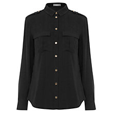 Buy Oasis Utility Soft Utility Shirt, Black Online at johnlewis.com