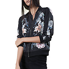 Buy Oasis Forest Bird Bomber Jacket, Multi Online at johnlewis.com