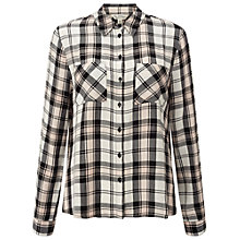 Buy Miss Selfridge Dreamer Check Shirt, Pink Online at johnlewis.com