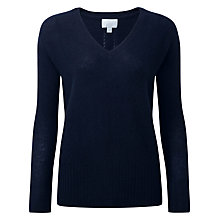 Buy Pure Collection V-Neck Gassato Cashmere Jumper Online at johnlewis.com
