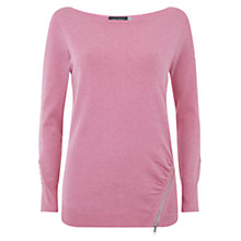 Buy Mint Velvet Zip Detail Fitted Jumper Online at johnlewis.com
