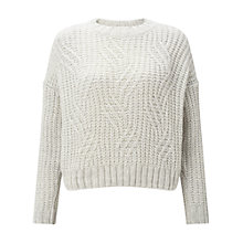 Buy Miss Selfridge Petite Chunky Weave Jumper, Light Grey Online at johnlewis.com