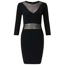 Buy Miss Selfridge Sheer Bodycon Dress, Black Online at johnlewis.com