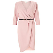 Buy Miss Selfridge Belted Wrap Dress, Pink Online at johnlewis.com