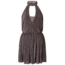 Buy Miss Selfridge Plisse Keyhole Playsuit, Grey Online at johnlewis.com