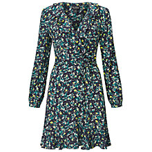 Buy Miss Selfridge Floral Ruffle Tie Dress, Multi Online at johnlewis.com