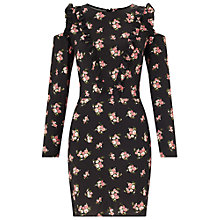 Buy Miss Selfridge Ditsy Ruffle Tea Dress, Multi Online at johnlewis.com