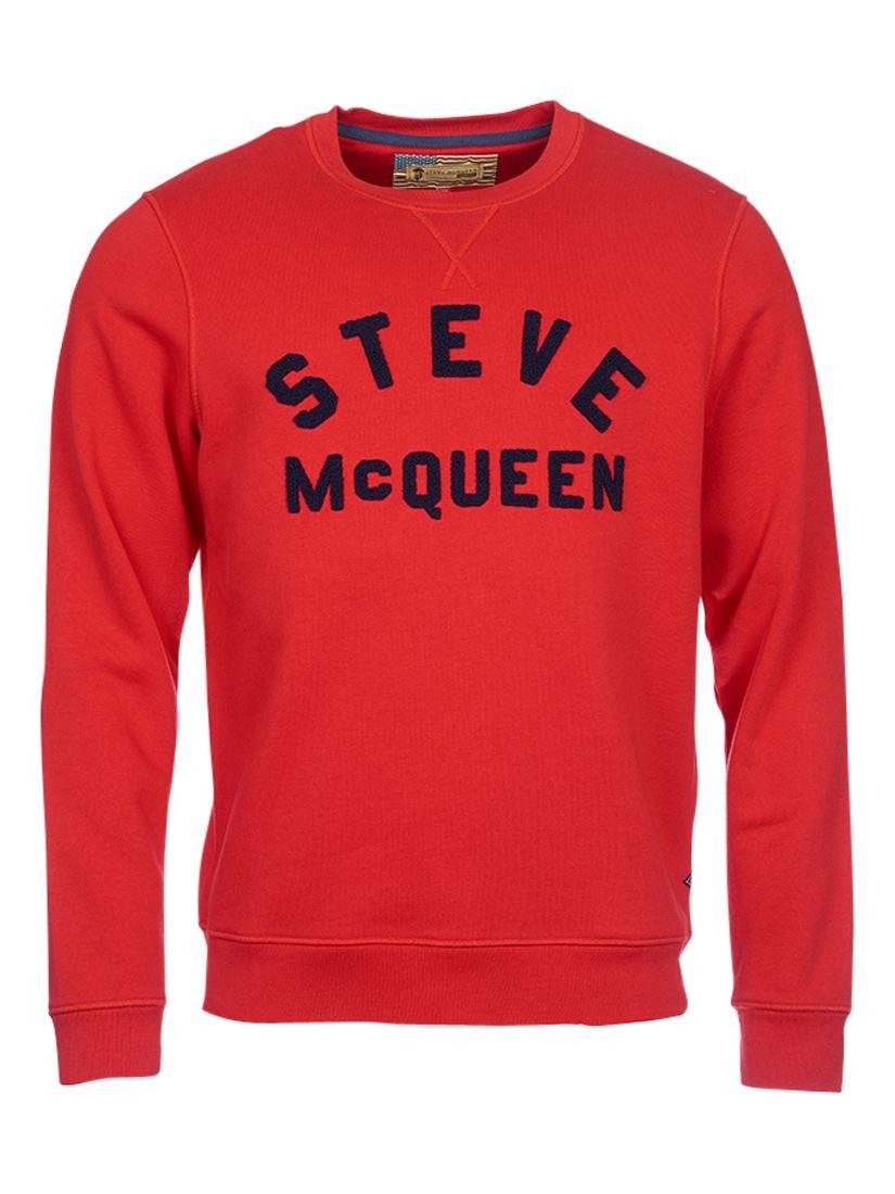 Barbour International Fame 'Steve McQueen' Sweatshirt, Chilli Red