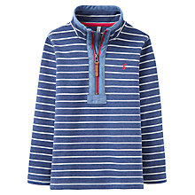 Buy Little Joule Boys' Dale Saltwash Half Zip Stripe Sweatshirt, Navy/Multi Online at johnlewis.com