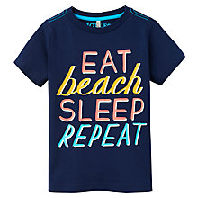 Buy Little Joule Boys' Ben Screen Print Jersey T-Shirt, Navy/Multi Online at johnlewis.com