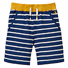 Buy Little Joule Boys' Bucaneer Striped Jersey Shorts, Navy/Multi Online at johnlewis.com