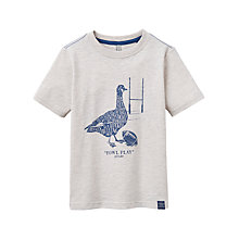 Buy Little Joule Boys' Junior Fowl Play T-Shirt, Cream Online at johnlewis.com