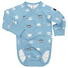 Buy Polarn O. Pyret Baby Bus Bodysuit, Blue Online at johnlewis.com