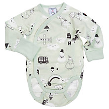 Buy Polarn O. Pyret Baby City Bodysuit, Green Online at johnlewis.com