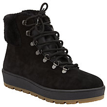 Buy John Lewis Polar Lace Up Hiker Boots, Black Online at johnlewis.com