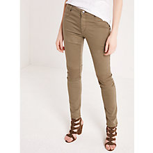 Buy AND/OR Biker Jeans, Khaki Online at johnlewis.com