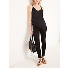 Buy AND/OR Twist Detail Vest, Black Online at johnlewis.com
