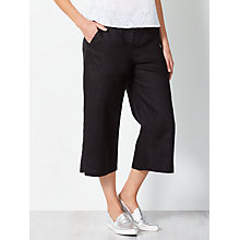 Buy Collection WEEKEND by John Lewis Wide Leg Linen Trousers, Black Online at johnlewis.com