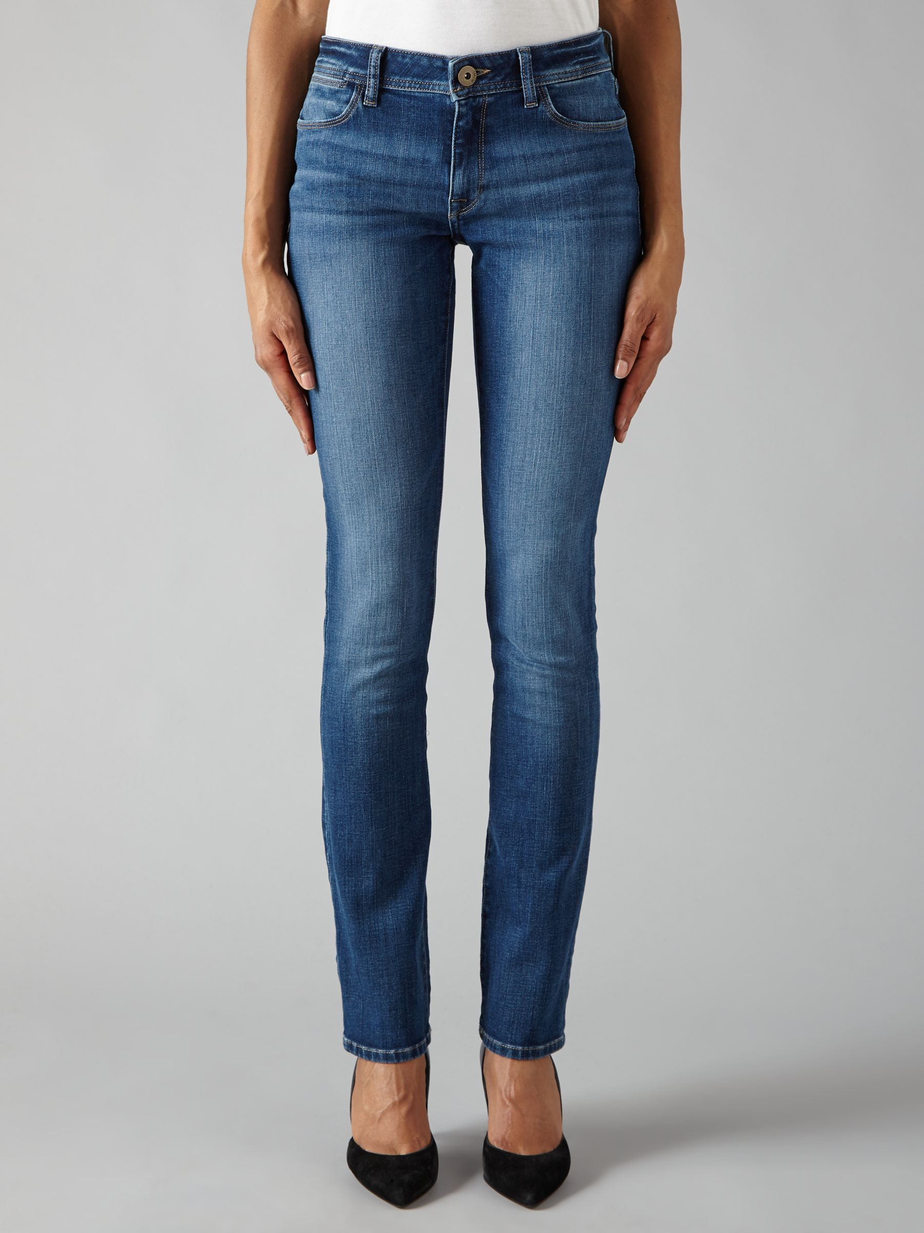DL1961 DL1961 Coco Curvy Straight Jeans, Pacific