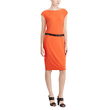 Buy Lauren Ralph Lauren Belted Jersey Dress, Sunset Orange Online at johnlewis.com