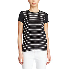 Buy Lauren Ralph Lauren Stripe T-Shirt, Polo Black/White Online at johnlewis.com
